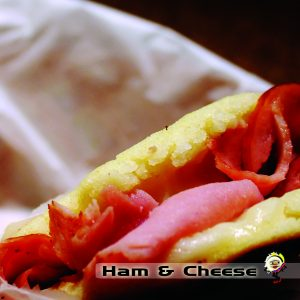 arepa ham and cheese