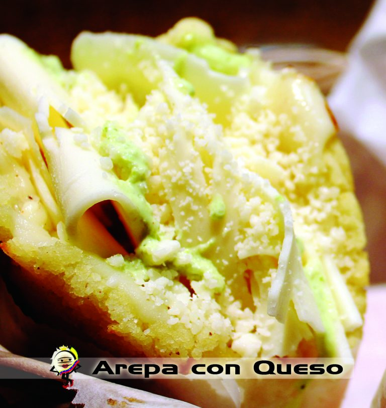 arepa with cheese